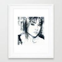 sasha grey Framed Art Prints featuring Sasha Grey by Cora-Tiana