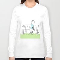 football Long Sleeve T-shirts featuring football by sharon