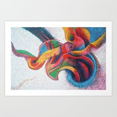Volumetric Abstraction Art Print