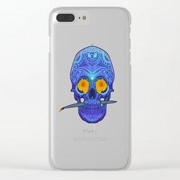 Sugar skull 3rd eye Clear iPhone Case