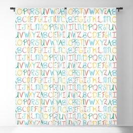 Hand Lettered Alphabet Blackout Curtain