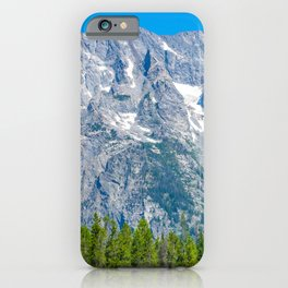 Rocky Mountains Nature Grand Teton National Park Wyoming Print iPhone Case
