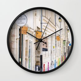 Paris Street Style No. 3 Wall Clock