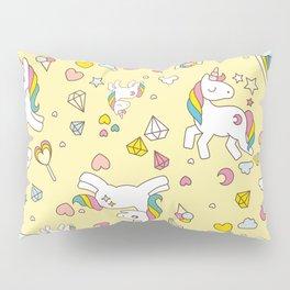 Unicorn Yellow Pattern Pillow Sham