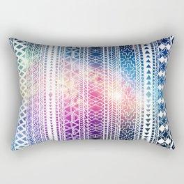 Galaxy & Tribal Print Rectangular Pillow
