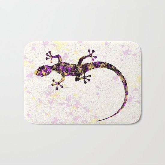 Abstract Lizard Bath Mat