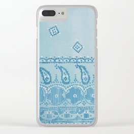 Floral Paisley Border Clear iPhone Case