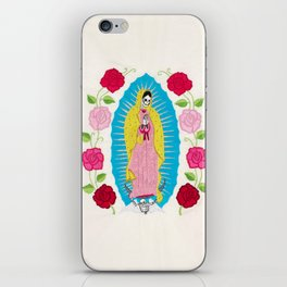 Skull Virgin of Guadalupe_ Hand embroidered iPhone Skin