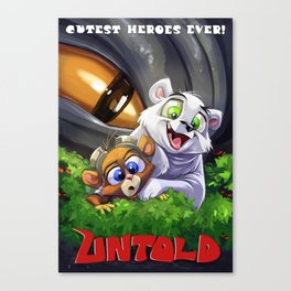 Cutest Heroes Ever! Canvas Print