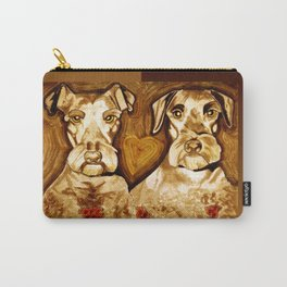Brother Dogs Bronze Carry-All Pouch