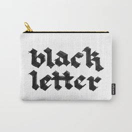 Black Letter fraktur gothic Carry-All Pouch