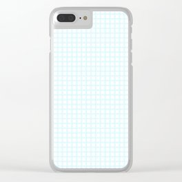 White Cell Checks Clear iPhone Case