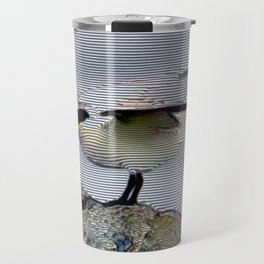 Maritime Stripes Relief Travel Mug