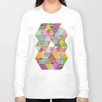 sunset Long Sleeve T-shirts featuring Lost in ▲ by Bianca Green