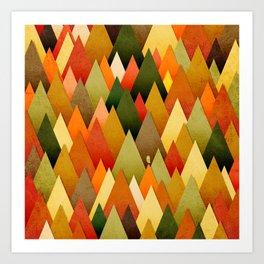 071 – deep into the autumn forest texture II Art Print