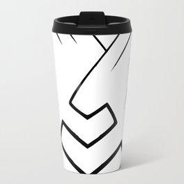 Pyramid lines in black Travel Mug