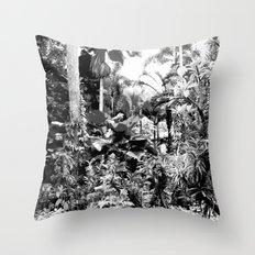 Singapore Botanical Garden 1 - Black & White Throw Pillow