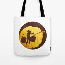 Vietnamese woman street vendor Hanoi Capital Tote Bag