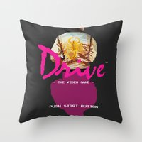 video game Throw Pillows featuring Drive Video Game by Simon Alenius