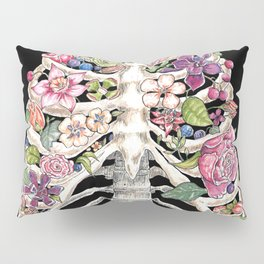 """""""Blooming on the Inside"""" - Flowers in Ribcage Pillow Sham"""