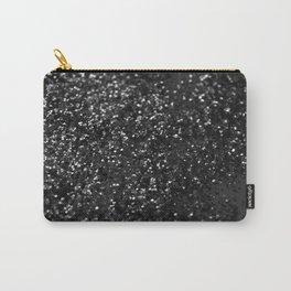 Black & Silver Glitter #1 #decor #art #society6 Carry-All Pouch