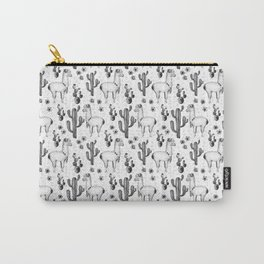 Llama Llamarama + Cactus Pattern Carry-All Pouch