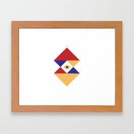 T R I | Eye Framed Art Print
