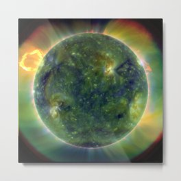 Images from Sun's surface Metal Print