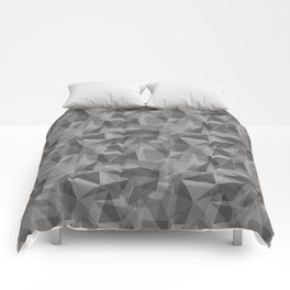Abstract Geometrical Triangle Patterns 3 Benjamin Moore 2019 Trending Color Cinder Dark Gray AF-705 Comforters