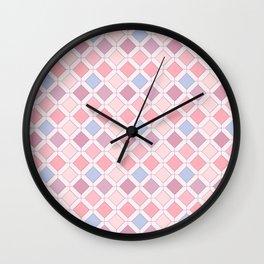 Pink diamonds 2 Wall Clock