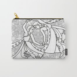 Women dancing line drawing Carry-All Pouch