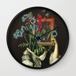 Florales Portrait Disaster Wall Clock