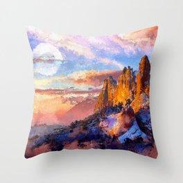 Artwork - Colorado Mountains Throw Pillow
