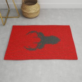 Antiallergenic Hand Knitted Deer Winter Wool Texture - Mix & Match with Simplicty of life Rug