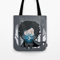 ghost Tote Bags featuring Ghost? by Perdita