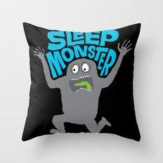 Sleep Monster Throw Pillow