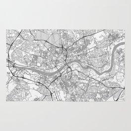 Newcastle upon Tyne Map Line Rug