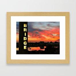 Sunset on Itchen Bridge Framed Art Print