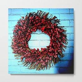 Berry Wreath Metal Print
