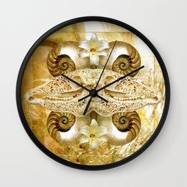 Abalone Pony (Gold Version) Wall Clock
