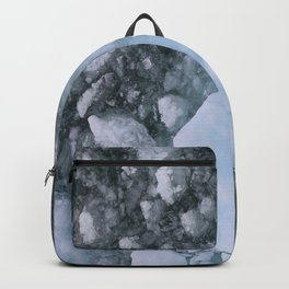 Ice And Snow Abstract Art By Nature Backpack