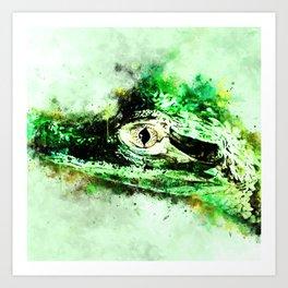 alligator baby eye wsw Art Print