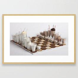 Cookies and Milk Chess Set Framed Art Print