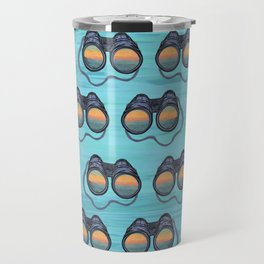 Coastal Binoculars Pattern Travel Mug