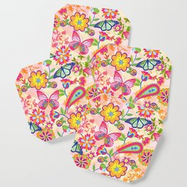 Butterflies and Fowers Coaster