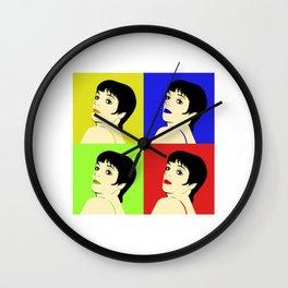 Liza Minnelli Color Pop Wall Clock