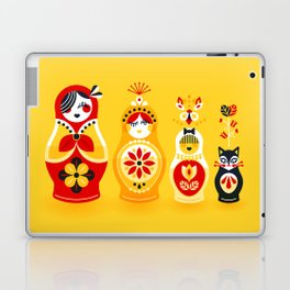 Russian Nesting Dolls – Yellow & Red Laptop & iPad Skin