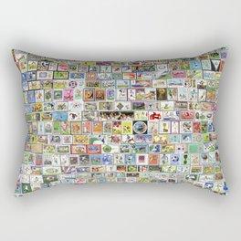 Soccer Stamps Rectangular Pillow