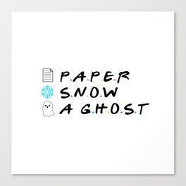 Paper Snow A Ghost Canvas Print