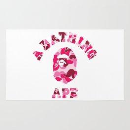 A Bathing Ape Pink Rug
